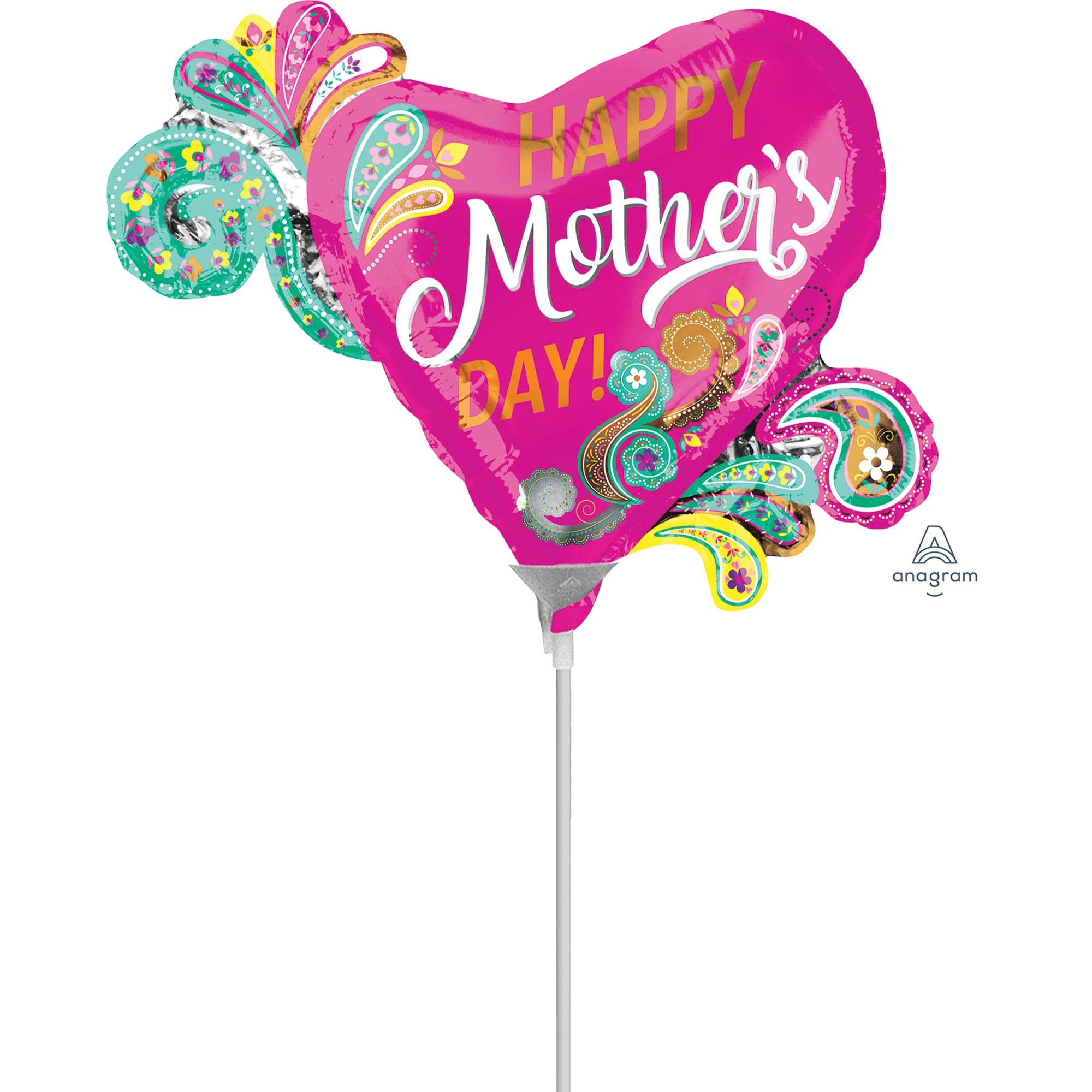 Mini Shape Happy Mother's Day Paisley Heart A30