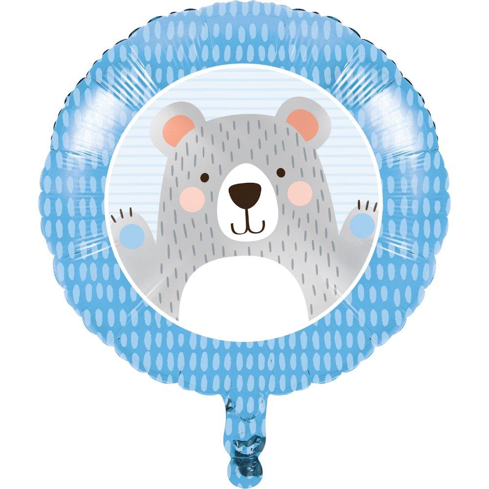 45cm 1st Birthday Bear Foil Balloon