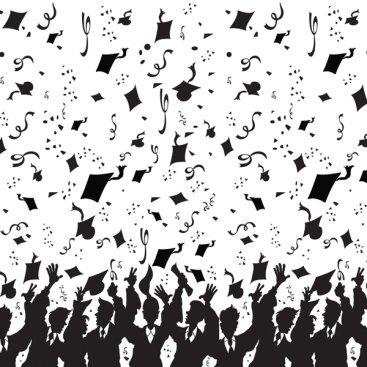 Backdrop Graduation Black & White Scene Setter