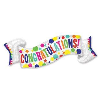 SuperShape Congratulations Banner P35