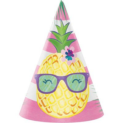 Pineapple N Friends Cone Shaped Party Hats