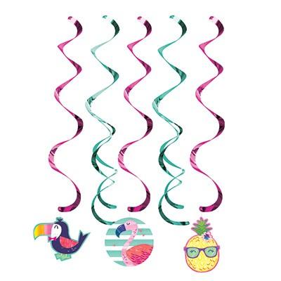 Pineapple N Friends Dizzy Danglers Hanging Swirls
