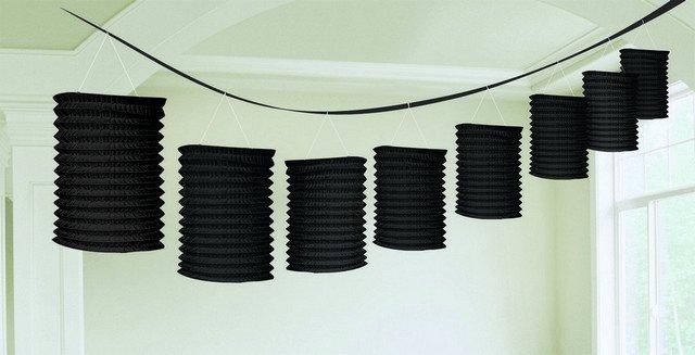 Paper Lantern Garland-Black