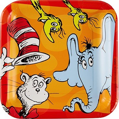 Dr.Seuss 23cm Square Plates