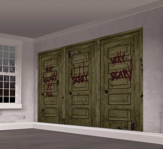 IT Scene Setter - 3 Scary Door Panels