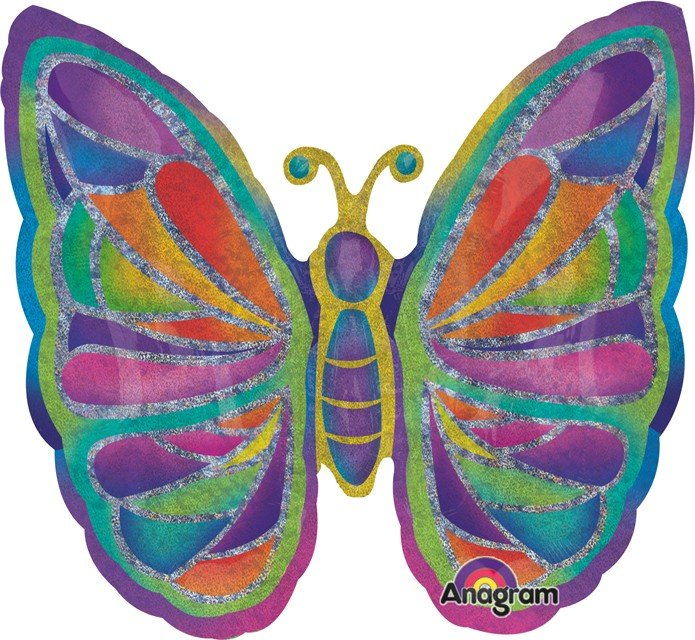 SuperShape Holographic Butterfly Sparkles P40