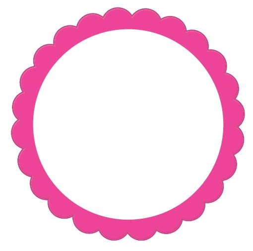 Labels Scalloped - Bright Pink