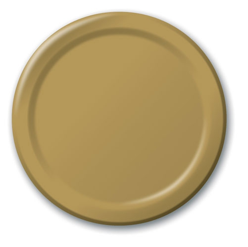 Glittering Gold Lunch Plates Paper 18cm