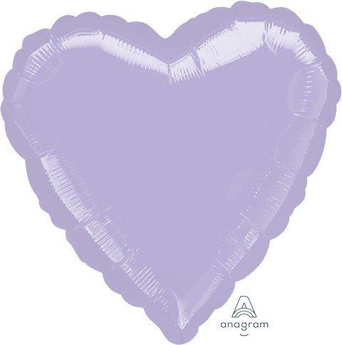 45cm Standard HX Heart Metallic Pearl Pastel Lilac S15