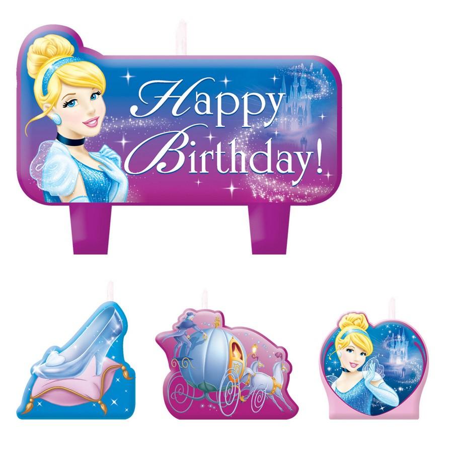 Cinderella Birthday Candle Set