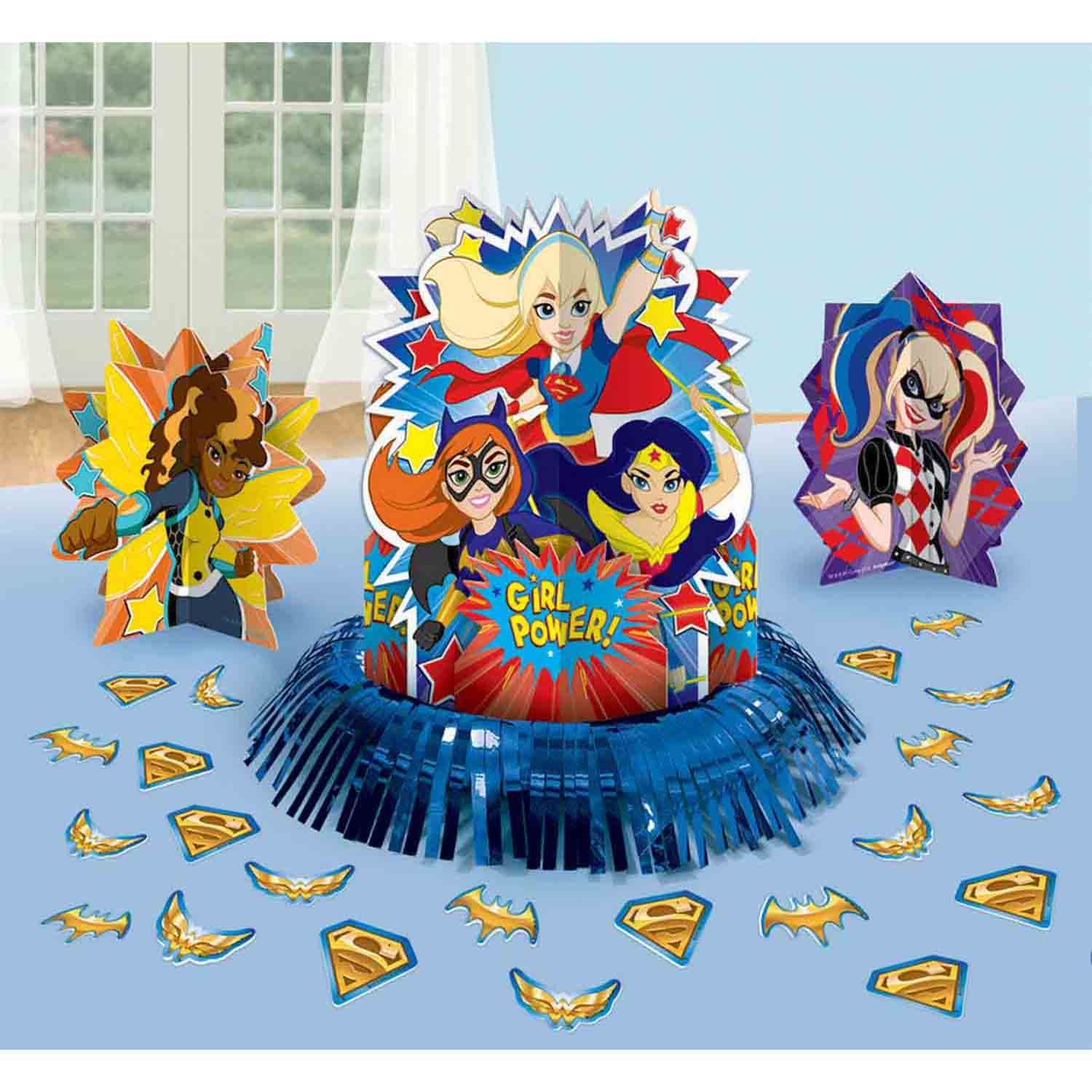 DC Superhero Girls Table Decorations Kit