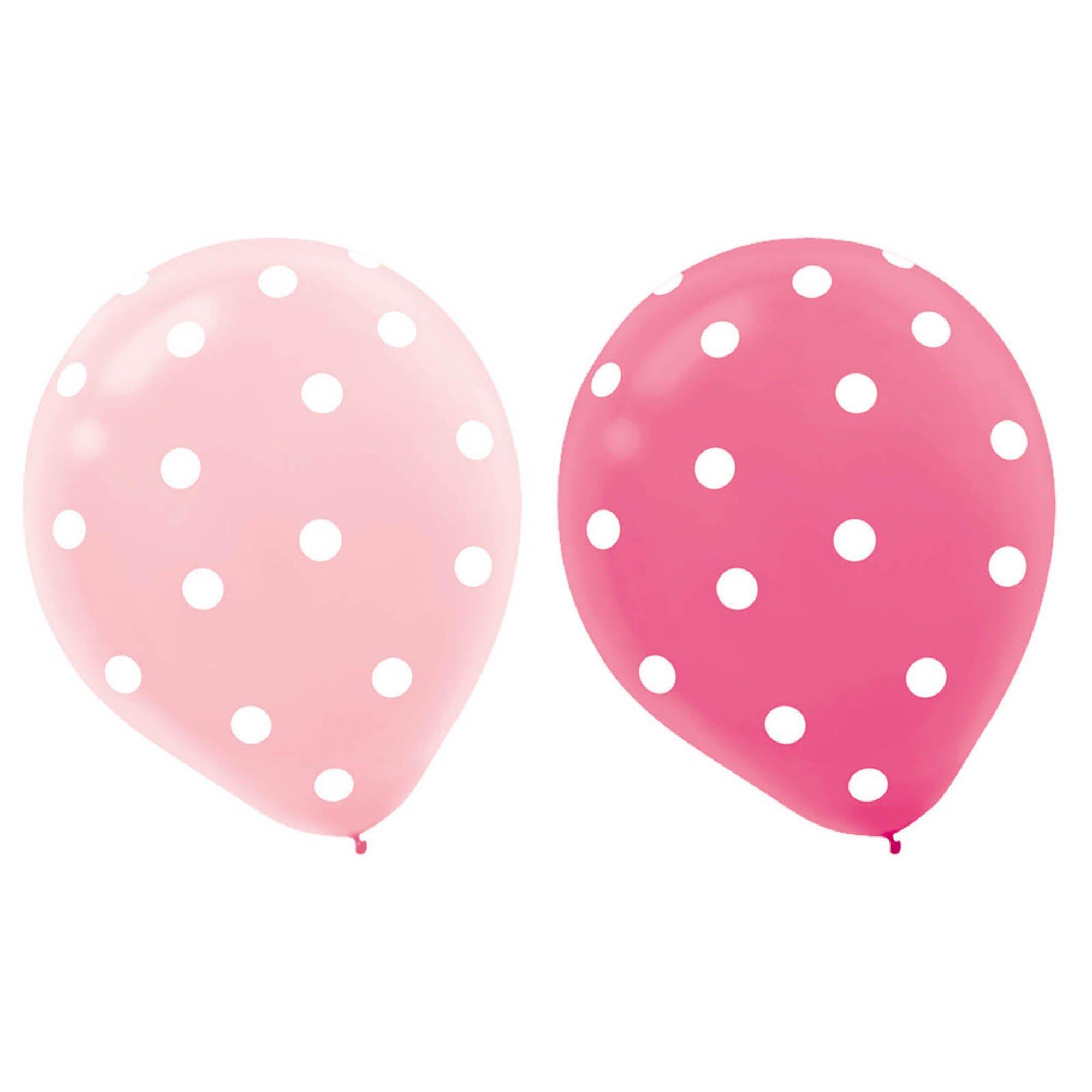 1st Birthday Girl 30cm Latex Balloons
