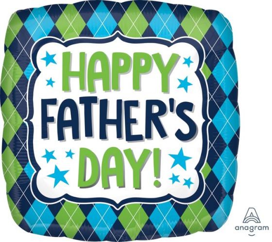 45cm Standard HX Happy Fathers Day Argyle S40