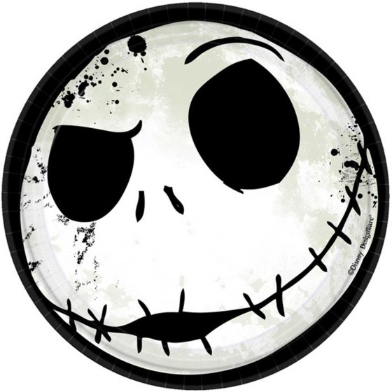 """""""The Nightmare Before Christmas  7"""""""" / 17cm Round Paper Plates"""