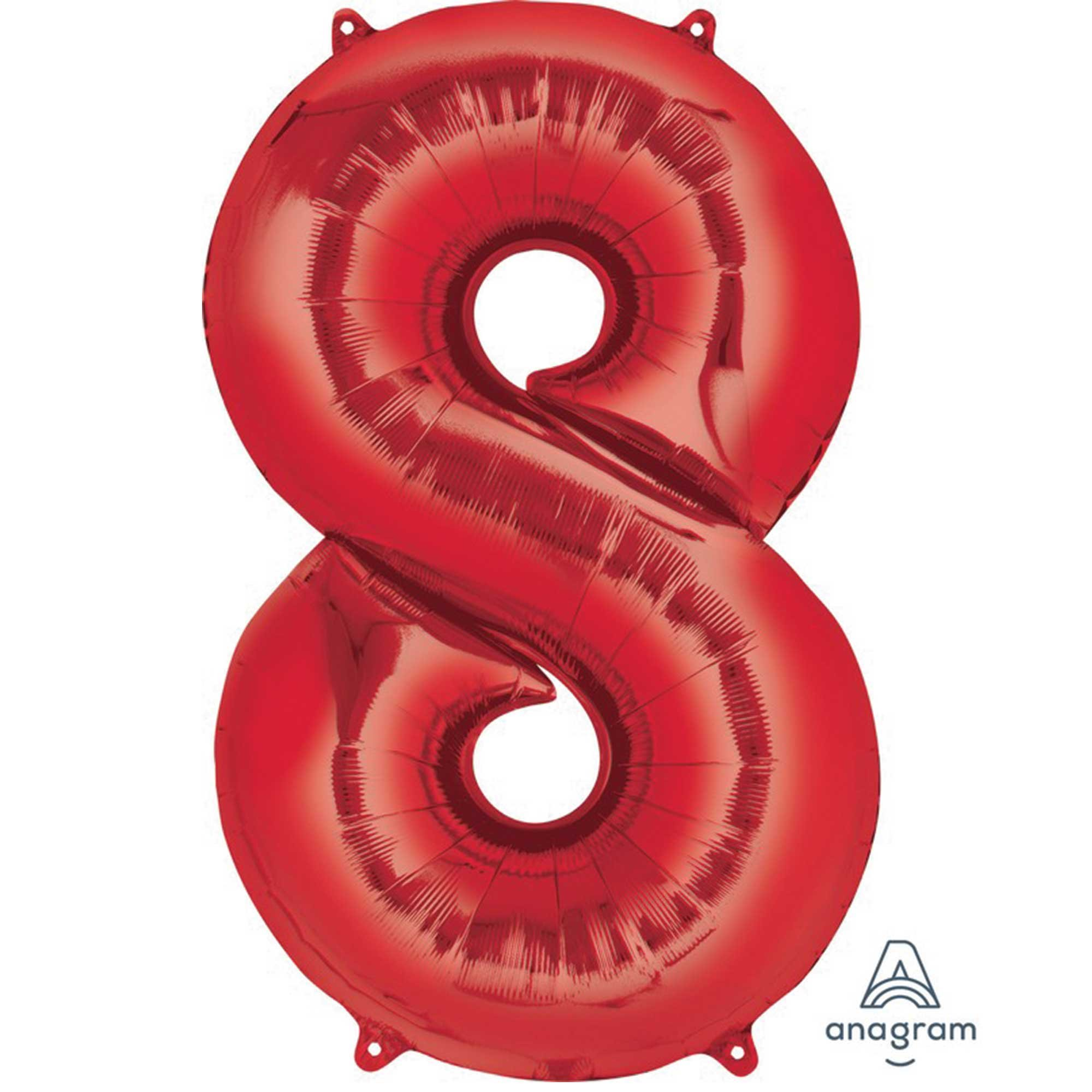 SuperShape Red Numeral 8.  L34