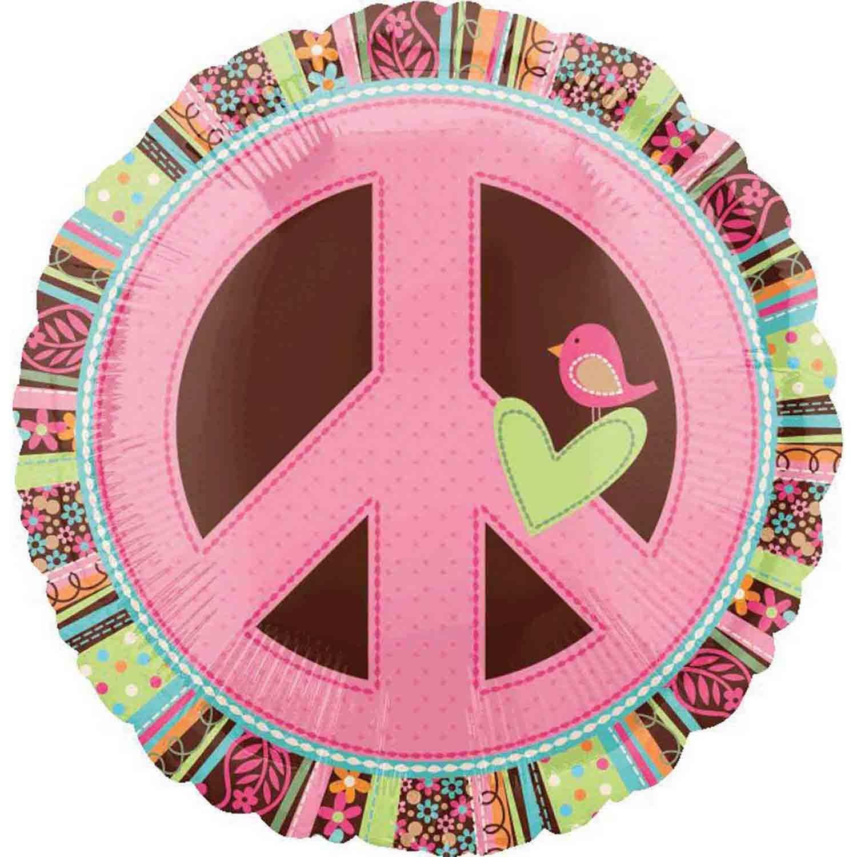 45cm Standard XL Hippie Chick Peace Sign S40