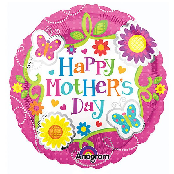 23cm Happy Mothers Day Butterflies & Flowers A15