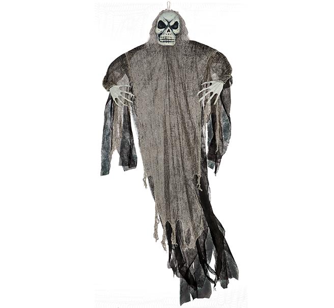 Life Size Black Reaper Hanging Prop Decoration Fabric & Plastic