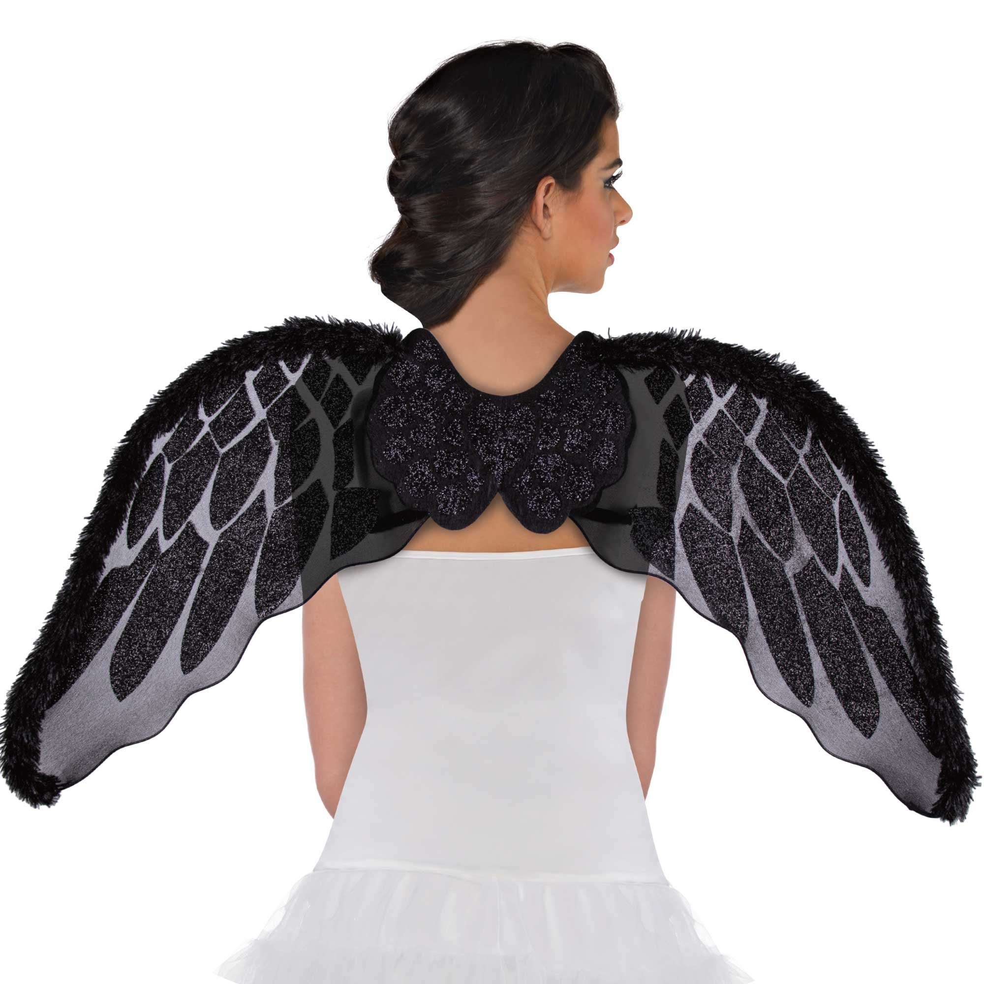 Angel Wings Black Marabou Faux Fur