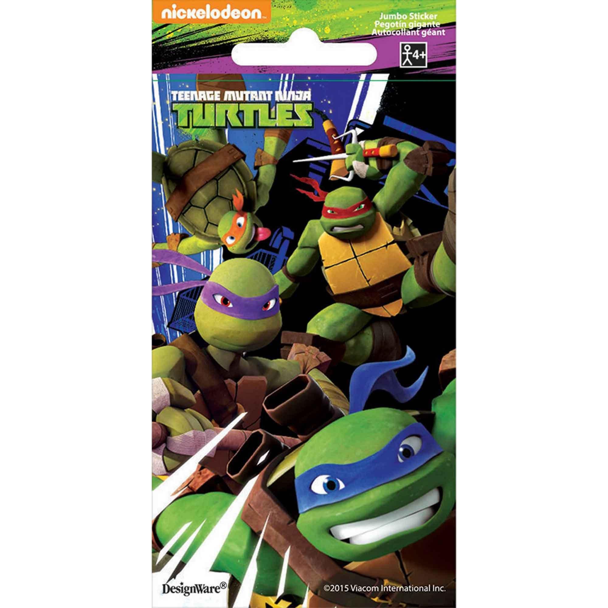 Stickers Jumbo Favor Teenage Mutant Ninja Turtles