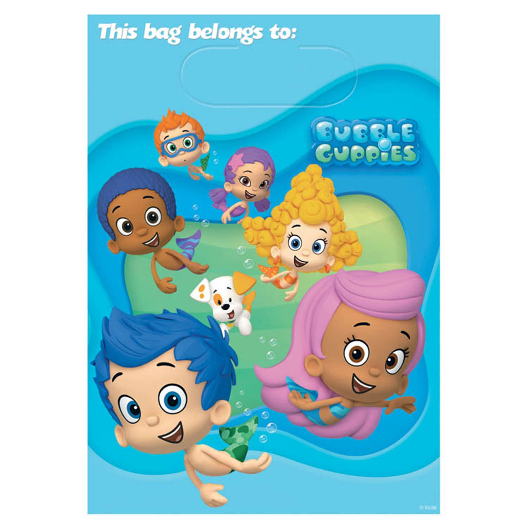 Bubble Guppies Folded Loot Bags