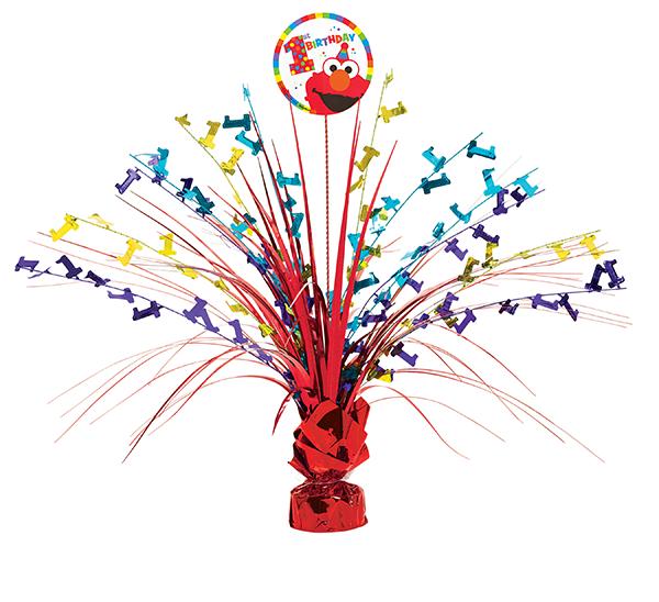 Elmo Turns One Spray Foil Centerpiece