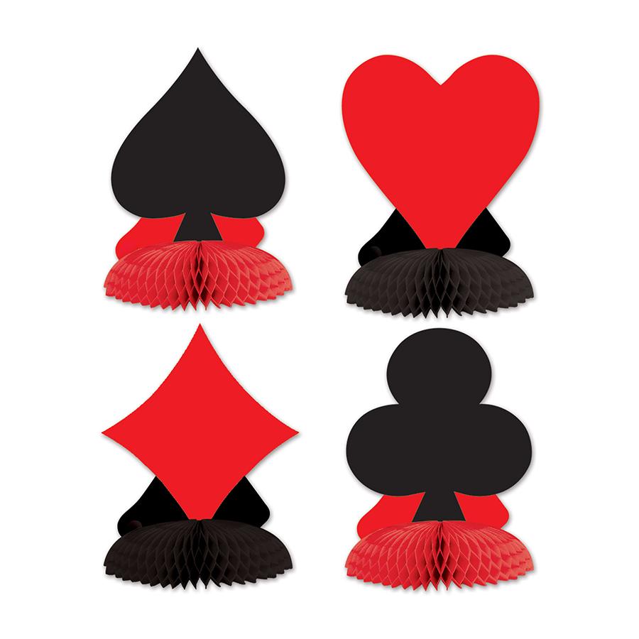 Card Suits Mini Honeycomb Centrepieces