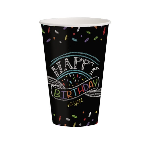 Chalk Birthday Paper Cups