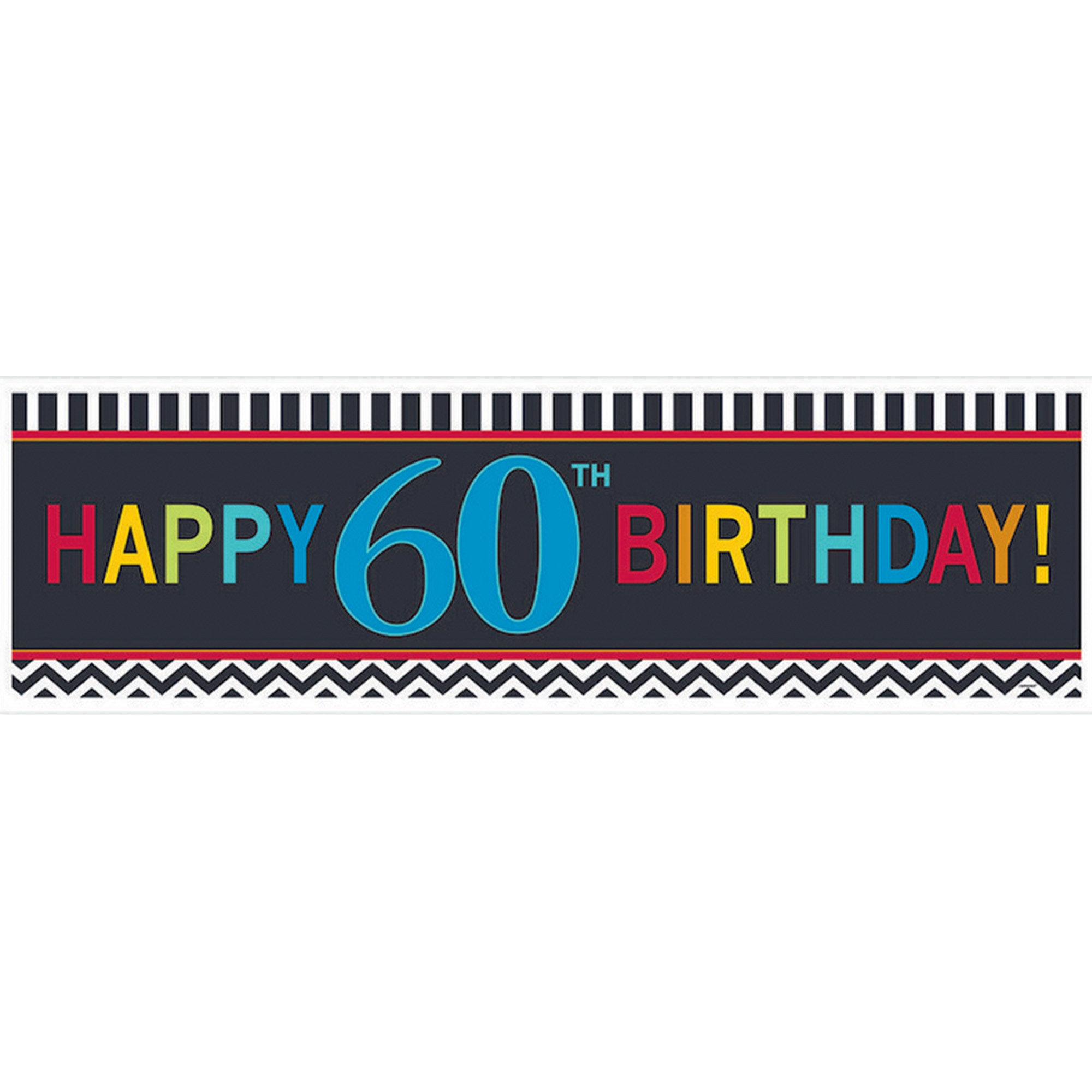 60th Birthday Celebration Giant Banner