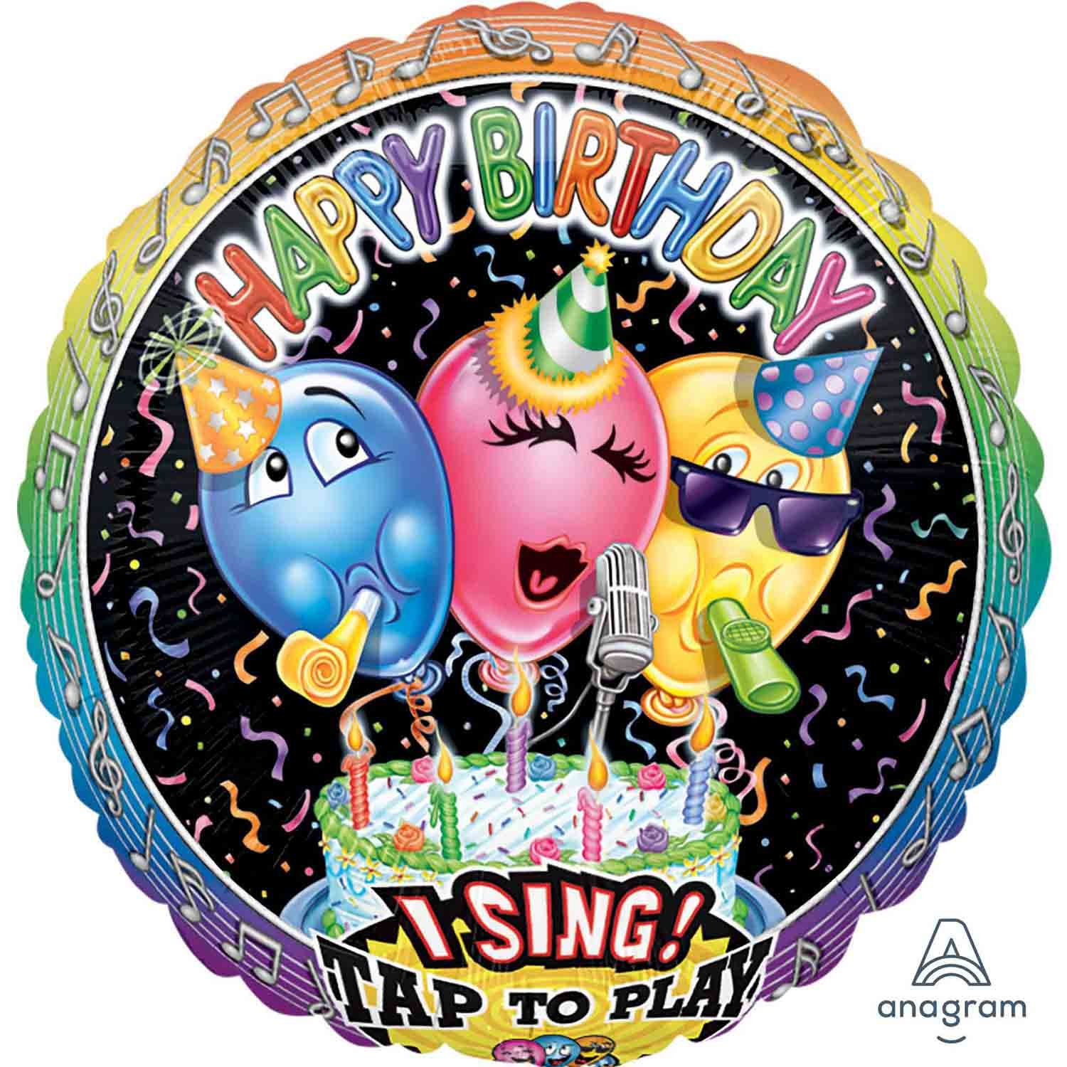 Sing-A-Tune XL Singing Balloon Birthday P60
