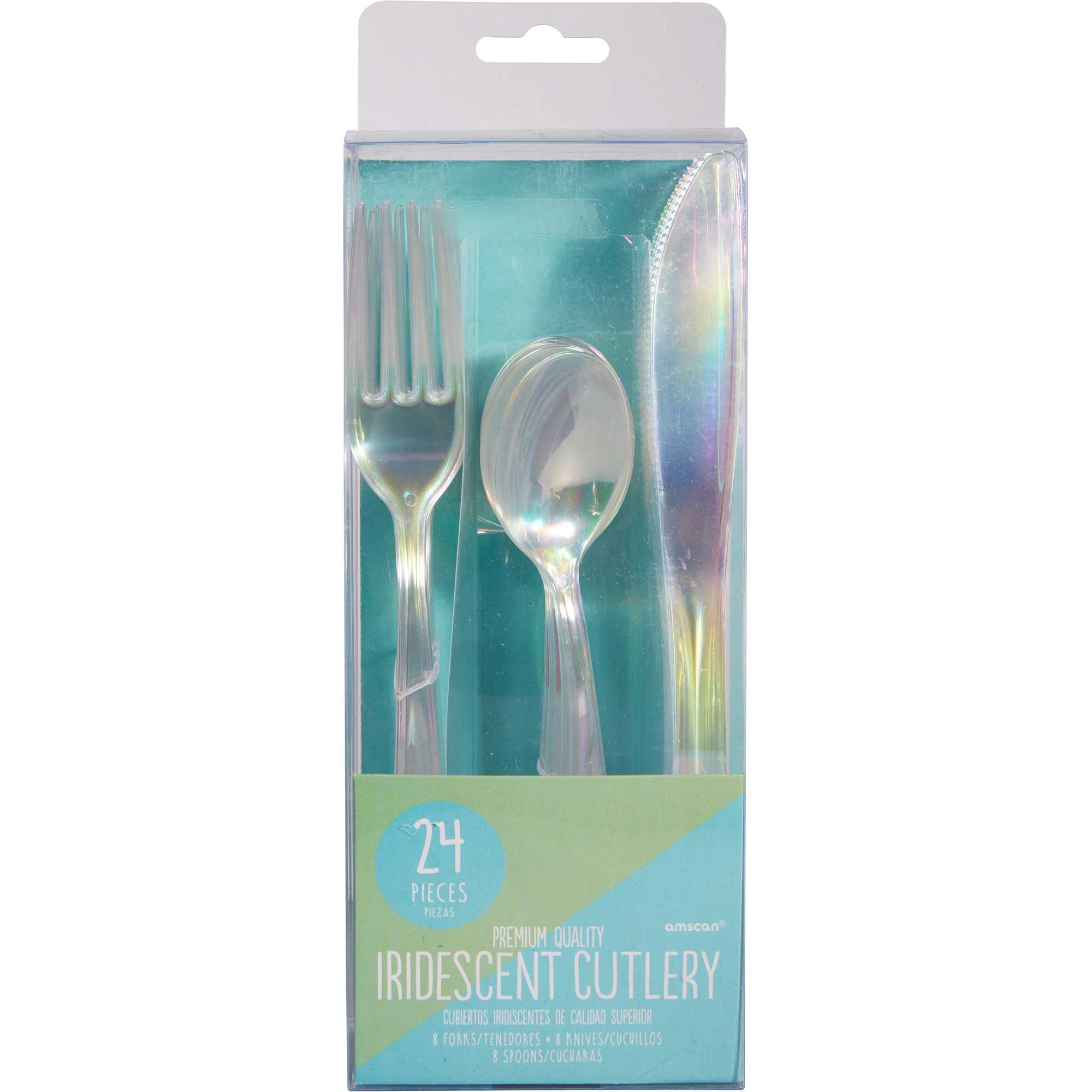 Shimmering Party Iridescent Assorted Cutlery