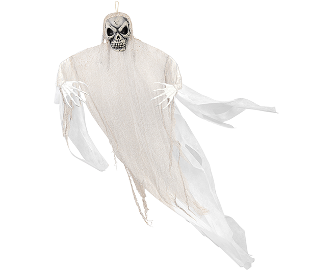 Life Size White Reaper Hanging Prop Decoration Fabric & Plastic
