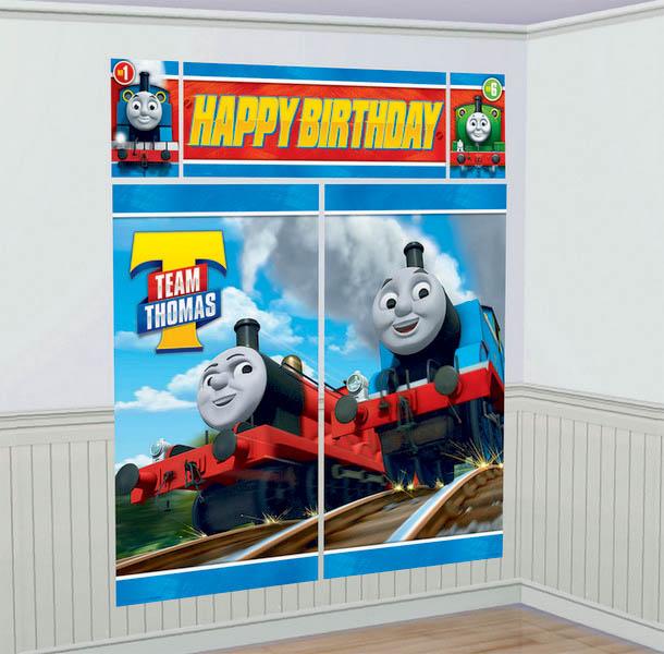 Thomas All Aboard Scene Setter Wall Decorations Kit - Plastic