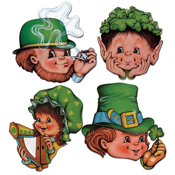 St Patrick's Day Faces Cutouts