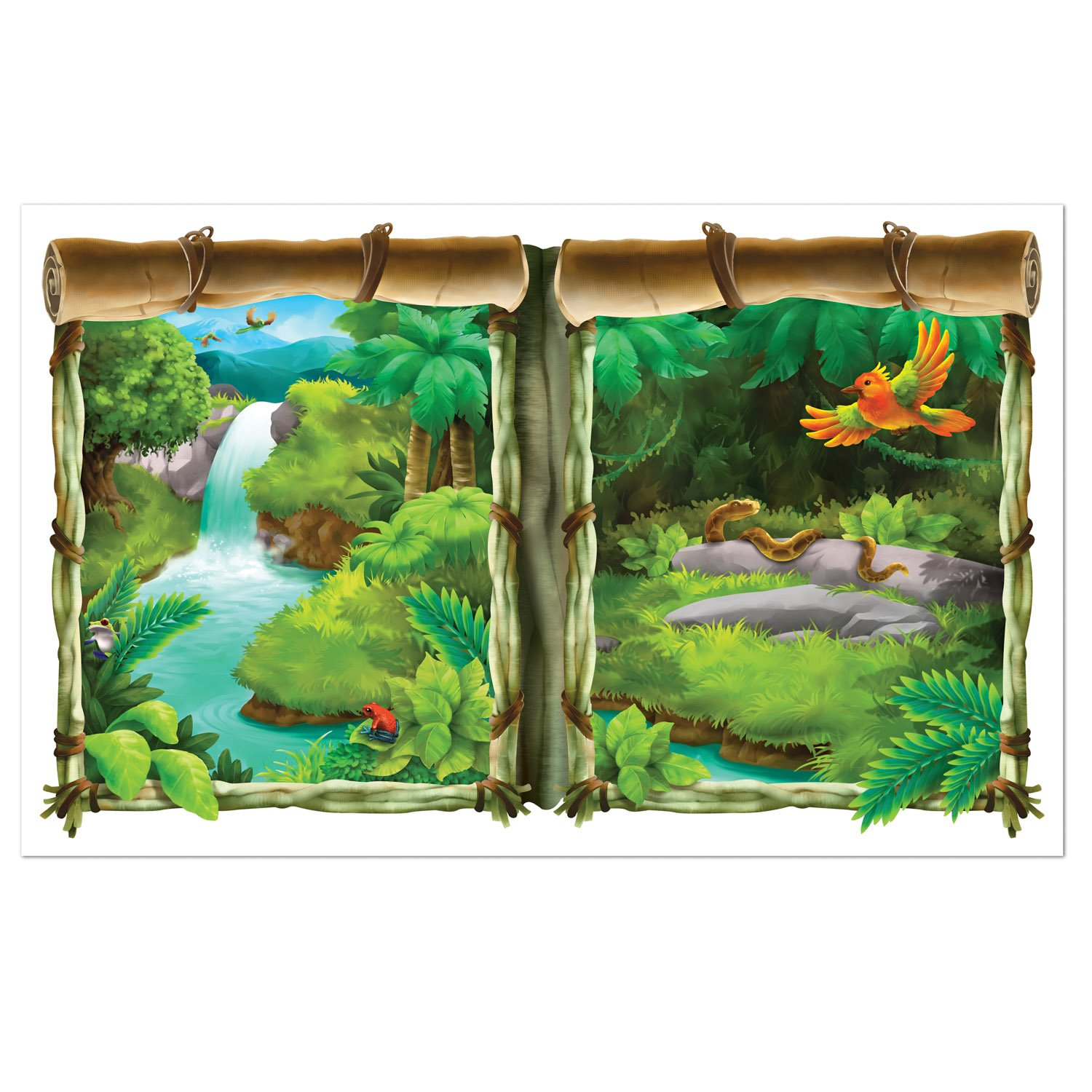 Backdrop Jungle Window View Scene Setter