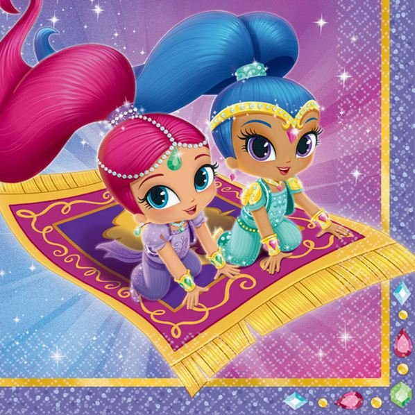 Shimmer and Shine Lunch Napkins