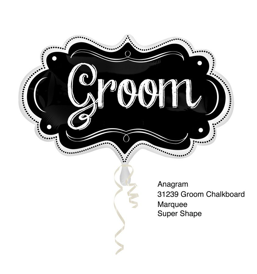 SuperShape  Groom Chalkboard Marquee P35