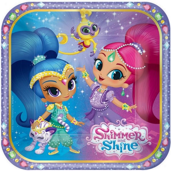 Shimmer and Shine 17cm Square Plate