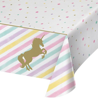 Unicorn Sparkle Tablecover Plastic All Over Print 137cm x 259cm