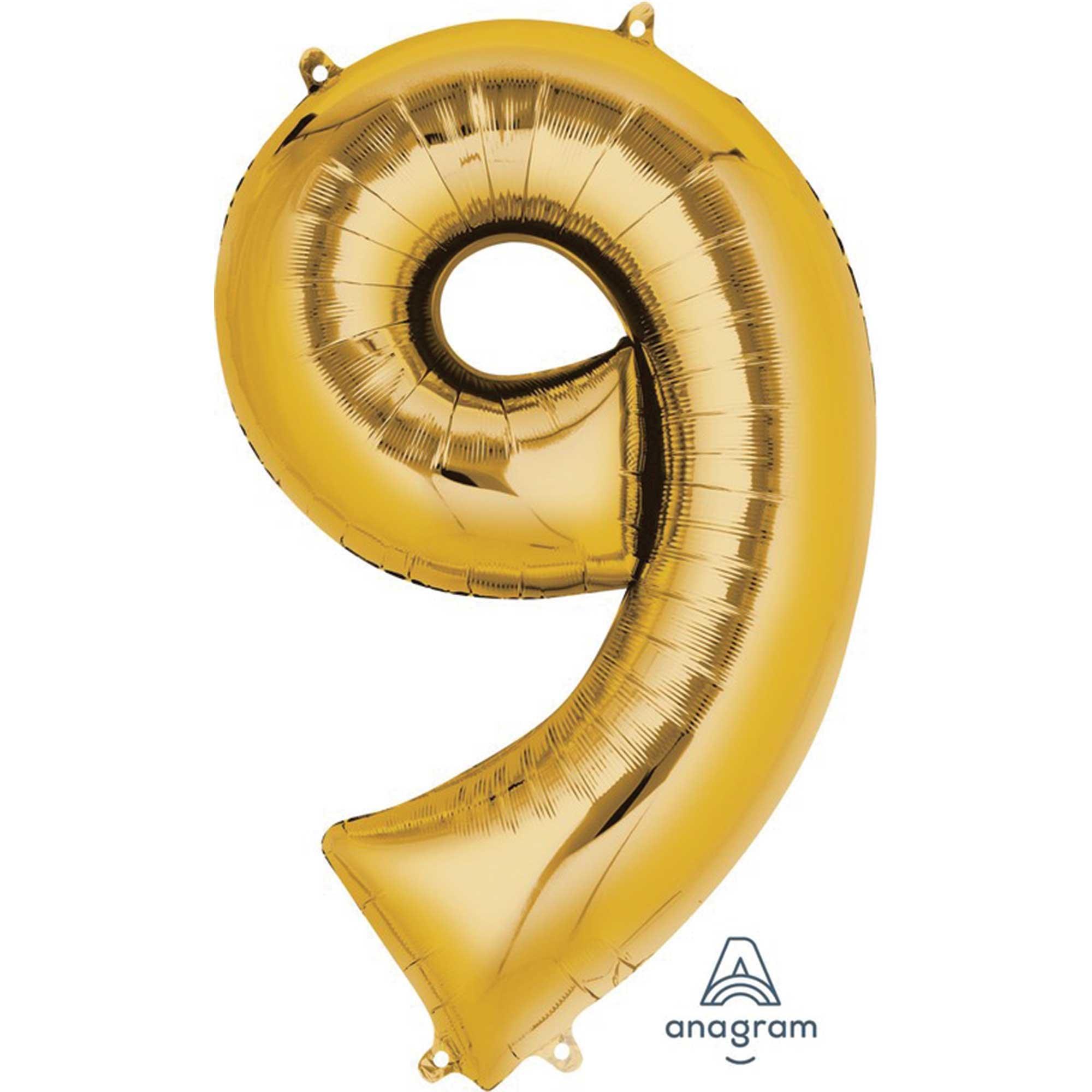 SuperShape Gold Numeral 9.  86cm L34