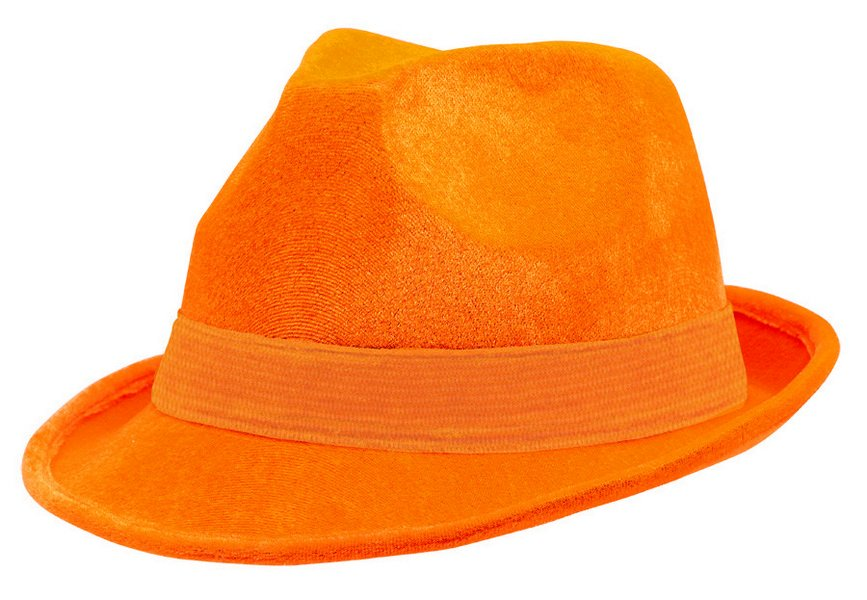Fedora Velour Hat  - Orange