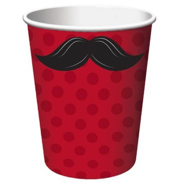 Moustache Madness Cups Hot & Cold
