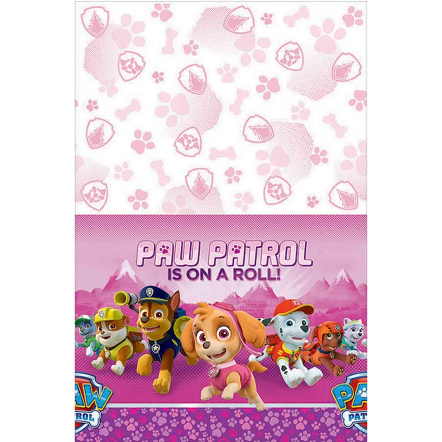 Paw Patrol Girl Tablecover Plastic