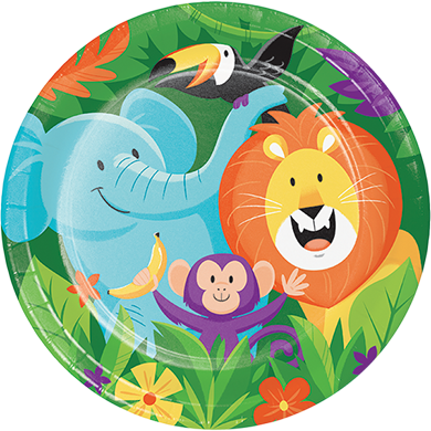 Jungle Safari Dinner Plates Paper 22cm