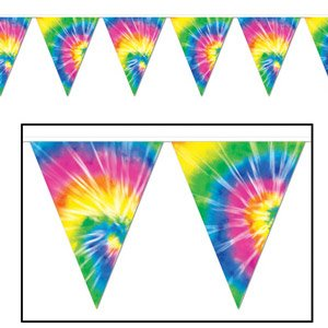 Pennant Flag Banner Tie-Dyed