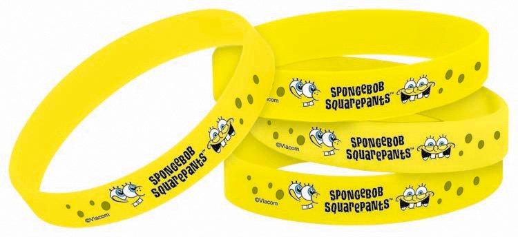 SpongeBob Rubber Bracelet Favors