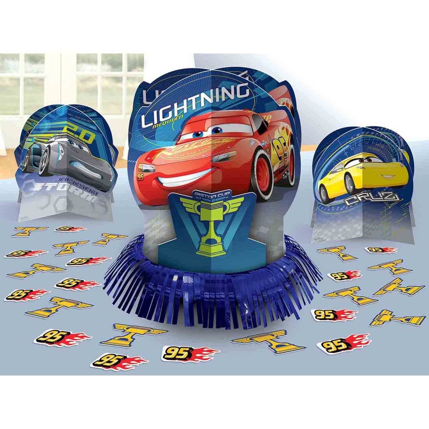 Cars 3 Table Decorations Kit