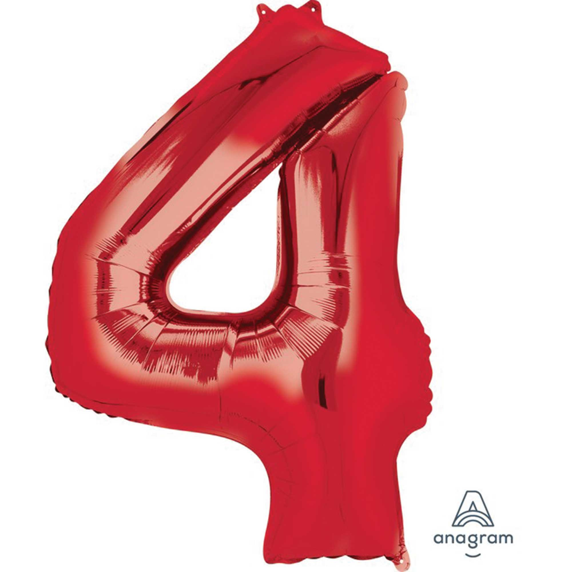 SuperShape Red Numeral 4.  L34
