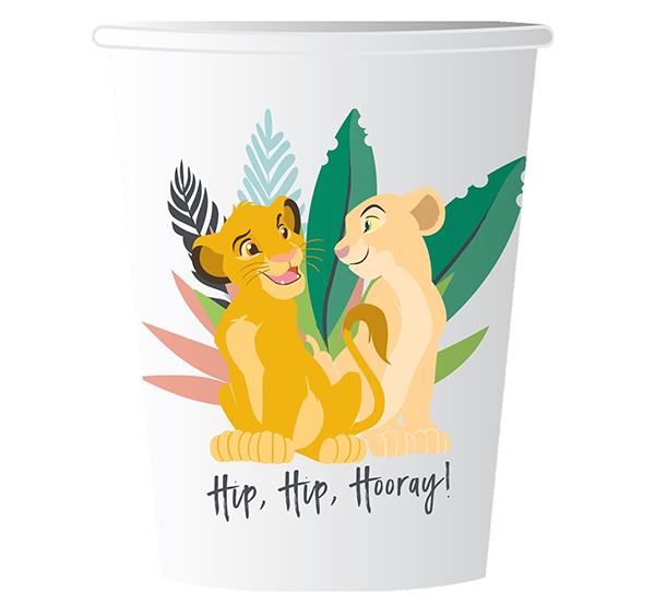 Lion King 9oz /266ml Paper Cups