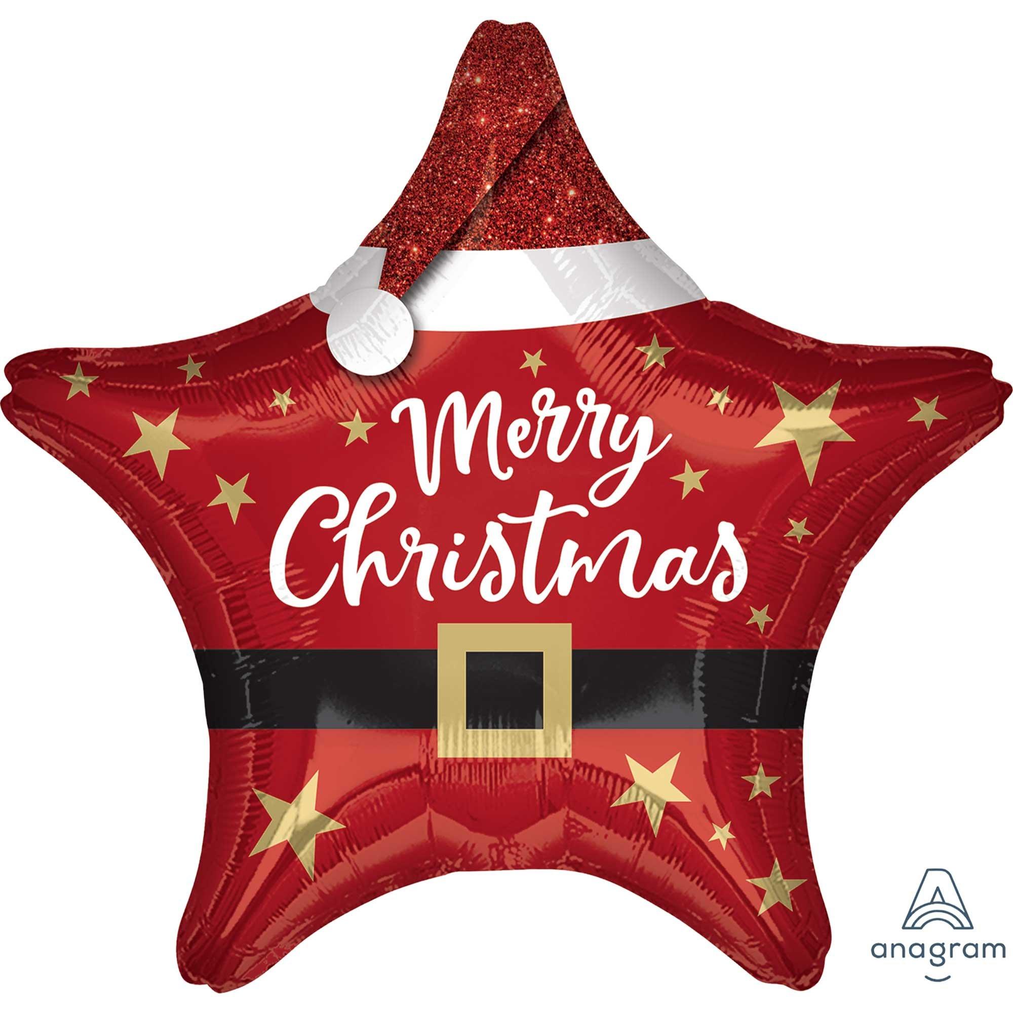 45cm Standard Star XL Santa Merry Christmas Star S40